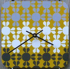 Wall clock by Eighty Acres Art  Yellow Sweater by eightyacresart, $42.00 #clock