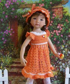 "Sweet Autumn Treat for 13"" Dianna Effner Studio's Little Darlings Dolls"