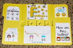 Feelings ~ Tot-Book file folder lap books lots of different themes Elementary School Counseling, School Social Work, School Counselor, Elementary Schools, Counseling Activities, Therapy Activities, Preschool Activities, Toddler Preschool, Feelings Preschool