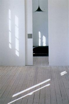 I want a sliding door in my life...Interior design: Minimalism - bedroom