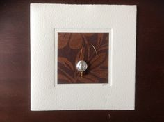 MISU card design | bronze + silver pod Japanese Paper, Silk Screen Printing, Woodblock Print, Wool Felt, Watercolor Art, Stationery, Clock, Bronze, Pure Products