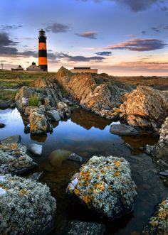 St John's Point Lighthouse, County Down, Northern Ireland.
