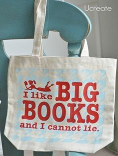 cute library tote bag craft-ideas