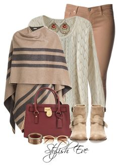 """""""Striped&Maroon outfit!"""" by stylisheve ❤ liked on Polyvore featuring Hudson Jeans, Burberry, Michael Kors, Pull&Bear, Marni and Vince Camuto"""