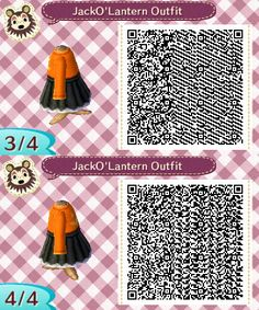 Halloween - Animal Crossing New Leaf Animal Crossing 3ds, Animal Crossing Qr Codes Clothes, Cream Jumper, Ac New Leaf, All Things New, Clothing Patterns, Animals, Outfits, Fandoms