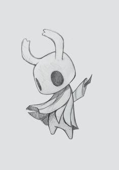ArtStation - Hollow Knight, Zaiisey (Ana Viana) - a - Creepy Drawings, Dark Drawings, Cool Art Drawings, Art Drawings Sketches, Random Drawings, Hollow Art, Arte Horror, Drawing Reference, Doodle Art