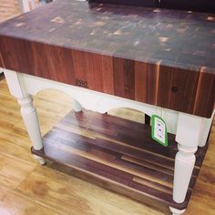 John Boos Kitchen Island/Butcher Block.  Wish list! #homegoods #homegoodsobsessed #kitchen #uws #nyc (at HomeGoods)