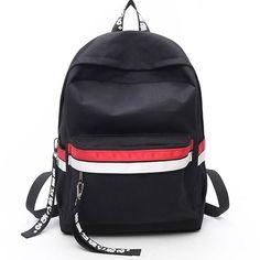 Cheap Leisure Two Color Stripes Waterproof Striped Student Bag Canvas School Backpack For Big Sale!Leisure Two Color Stripes Waterproof Striped Student Bag Canvas School Backpack Cute Backpacks, Girl Backpacks, School Backpacks, Canvas Backpacks, Stylish Backpacks, Leather Backpacks, Leather Bags, Mochila Do Bts, Mini Mochila