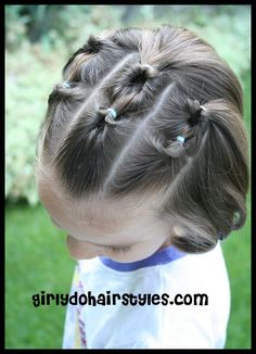 I've been doing this in Abigail's hair a long time.  I love Girly Do's!