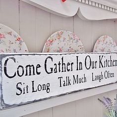 Love to have this in my new kitchen!-Vintage Wooden Kitchen Sign  Words