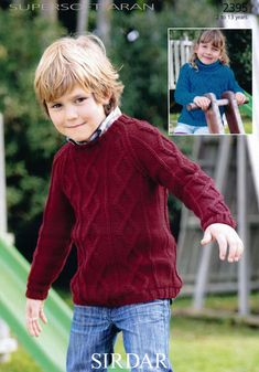 bf825430d66cf7 Boys and Girls Sweaters in Sirdar Supersoft Aran - 2395
