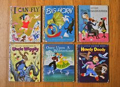 vintage children's books---these were tiny little books I adored