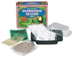 Make Your Own Chewing Gum Kit (6.5 oz.). Chickle from the rainforest is what gives this gum its chew!. Each kit provides valuable background information that connects kids to the part of the world where the raw ingredients are produced. Easy to make on stove or in microwave - makes enough for 50 pieces. Easy, step-by-step instructions help learners create delicious treats using the all-natural ingredients,. Ages: 8 years+.