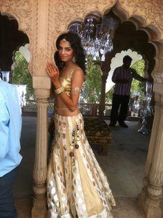 Beautiful Bride, #Lehenga via Dreamers Events