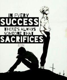 Dans chaque succès il ya toujours quelqu'un qui sacrifie