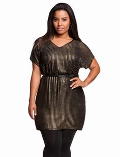 Metallic Drop Shoulder Dress