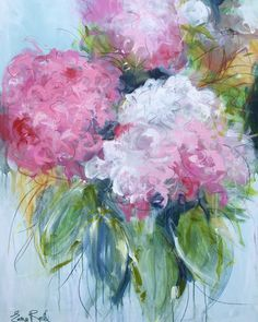 """Artist: Emma Bell Dimensions: 48""""x36"""" Original Floral Medium: Acrylic and charcoal Surface: Deep edge gallery wrap canvas. For more information email us at christenberrycollection@gmail.com"""