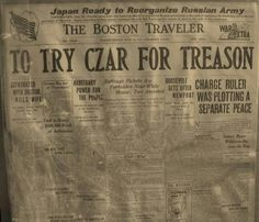 Newspaper clipping about Tsar Nicholas ll of Russia.A♥W