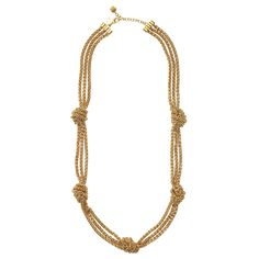 """Know the Ropes Necklace by Kate Spade: 12 karat gold plated hardware. 32"""" long. $295"""
