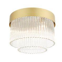 Everly Quinn <p></p><strong>Features:</strong><ul><li>Uses Candelabra base light bulbs</li><li>Suitable for Damp locations</li><li>Equipped with Clear Crystal Accents</li><li>Product Type: Flush mount</li><li>Number of Lights: 4</li><li>Fixture Design: Drum/Cylinder</li><li>Fixture Shape: Tiered</li><li>Light Direction: Down</li><li>Finish: </li><li>Secondary/Accent Material: No<ul><li>Secondary Material: </li></ul></li><li>Shade Included: Yes<ul><li>Shade Color: Brushed Nickel</li><li>Shade…