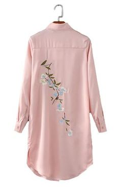 Specifications: Gender:Women Decoration:Embroidery Style:Fashion Clothing Length:Long Sleeve Length:Full Pattern Type:Floral Collar:Turn-down Collar Fabric Type:Satin Sleeve Style:Regular Material:Pol Look Fashion, Hijab Fashion, Fashion Dresses, Womens Fashion, Embroidery Fashion, Embroidery Dress, Embroidery Patterns, Apex Embroidery, Embroidery Fonts