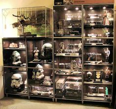 Custom Star Wars Pop Display Case With Led Lights Wireless