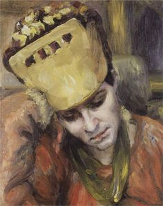Portrait of young woman with kokoshnik, 1892  Vasily Surikov
