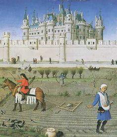 Jean et Herman Les très riches Heures du duc de Berry, le mois d'octobre - par Paul LIMBOURG (musée Condé, Chantilly)