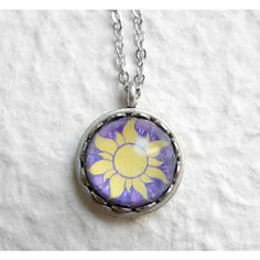 Tangled Sun Necklace Disney Rapunzel Necklace ($15) ❤ liked on Polyvore featuring jewelry, necklaces, disney, disney necklace, birthstone jewelry, disney jewelry and birthstone necklaces
