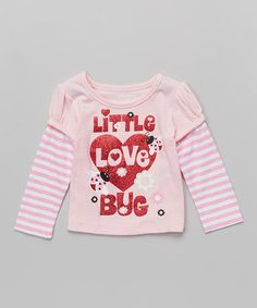 Look at this #zulilyfind! Rose 'Little Love Bug' Layered Tee - Infant, Toddler & Girls by Kidtopia #zulilyfinds