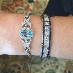 Aquamarines, sapphires and diamonds ❤️❤️❤️ Which one⁉️⁉️⁉️ Left Item#…