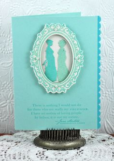 Friendship card using Papertrey Ink stamps and dies