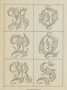 Free Easy Cross, Pattern Maker, PCStitch Charts + Free Historic Old Pattern Books: Sajou No 236 Tattoo Lettering Fonts, Hand Lettering Alphabet, Lettering Styles, Typography Letters, Lettering Design, Style Alphabet, Alphabet Art, Embroidery Alphabet, Embroidery Monogram