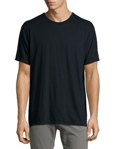 Classic Short-Sleeve Tee, Charcoal (Grey), Size: MEDIUM - T by Alexander Wang