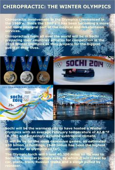 images of the Sochi olympics text a few facts about the olympics in Sochi and  chiropractic