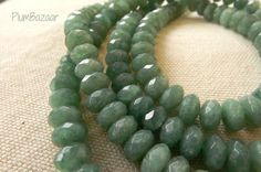 Items similar to Faceted medium green rondelle shape stone beads, 16 inch strand on Etsy Stone Beads, Unique Jewelry, Shapes, Handmade Gifts, Medium, Bracelets, Green, Etsy, Vintage