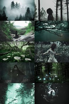 Enchanted Forest Witch aesthetic - skogsrån