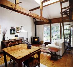 I love the ladder and exposed timber beams.