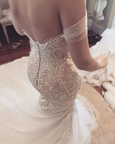Mermaid Wedding Dresses Off Shoulder Mermaid Exquisite Beaded Low Back Sexy Wedding Dress - FlosLuna - Cheap Wedding Dresses Online, Sexy Wedding Dresses, Wedding Attire, Wedding Gowns, Wedding Tips, Budget Wedding, Wedding Styles, Wedding Ceremony, Wedding Night