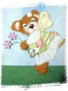 Flower Fairy - torn tear bear paper piecing scrapbooking      Price: $5.99