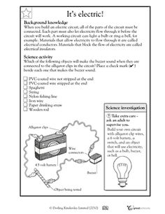 Electric circuit - Worksheets & Activities | GreatSchools