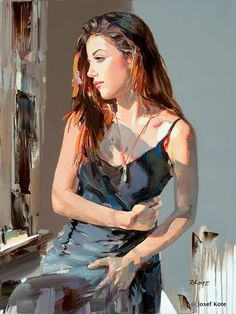 Tagged with art, painting, fine art; Shared by Art By JOSEF KOTE Painting People, Woman Painting, Figure Painting, Painting Art, Watercolor Portraits, Watercolor Paintings, Original Paintings, Portrait Paintings, L'art Du Portrait