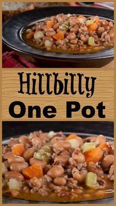 Hillbilly One Pot This ground beef stew features a rustic, country-style taste thanks to loads of veggies, black-eyed peas, and yummy spices! Crock Pot Slow Cooker, Crock Pot Cooking, Slow Cooker Recipes, Crockpot Recipes, Cooking Recipes, Crock Pots, Ground Beef Stews, Ground Beef Recipes, Ground Meat