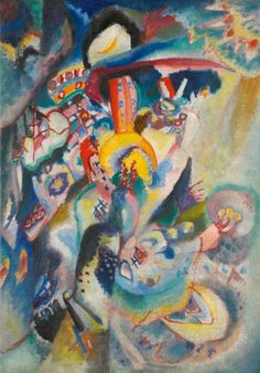 """Wassily Kandinsky. Moscow II, 1916, Oil on canvas 20.8 × 15.4"""" (52.8 × 39.0 cm) Private collection"""