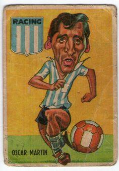 figurita tarjeton futbol sport 1967 #53 Oscar Martin - Racing Club
