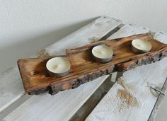 Handmade Wooden Candle Holder Natural wooden home by STWooDandCo, €12.00