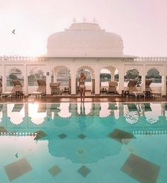 Sunrise in Taj Lake Palace, Udaipur, India