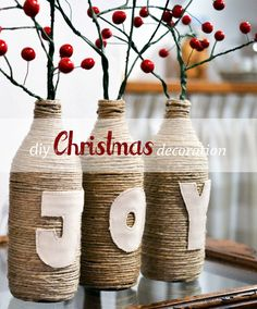 Diy Christmas decoration {joy}