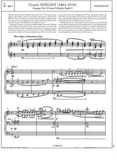 Canope, No.10 from Préludes Book 2 >>> KLICK auf die Noten um Reinzuhören <<<