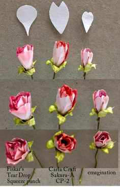 Flower buds made with various punches. - http://yogiemp.blogspot.ca/2014/10/mc-oct14-rose-buds-some-people-hb.html